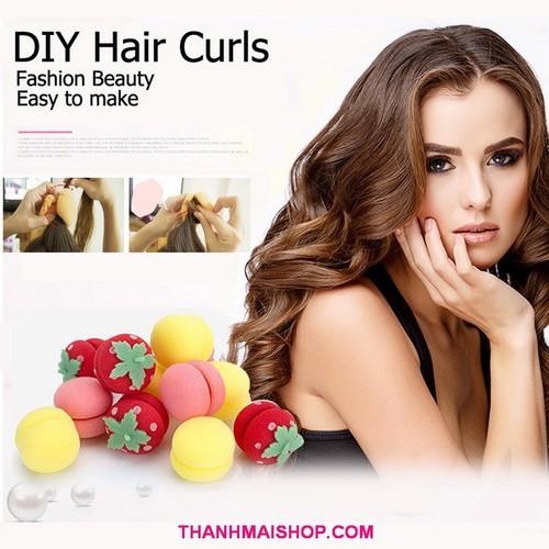Combo 12 dụng cụ quấn tóc xoăn TC019x2 hình tròn, trái dâu