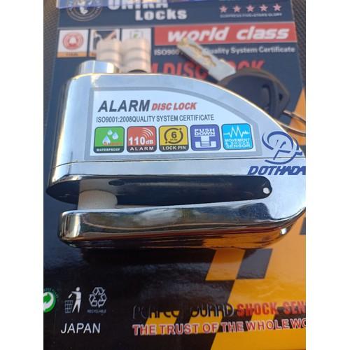 Khóa đĩa báo động Onika - Japan - Bảo hành 05 năm - Tặng kèm 6 cục pin