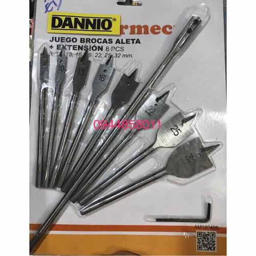 Bộ 8 mũi khoan khoét gỗ đuôi cá Dannio