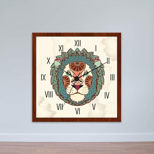 Đồng hồ treo tường cung Sư Tử | Đồng hồ tiện ích giá rẻ WC050
