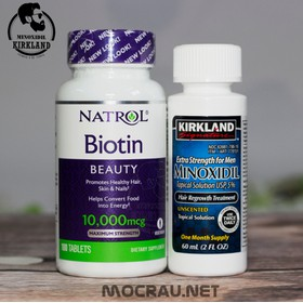 Combo Minoxidil Kirkland và Biotin Thuốc mọc Râu Tóc - Combo Mino Biotin