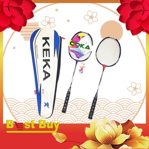 Bộ 2 vợt cầu lông thi đấu chuyên nghiệp KeKa 8800