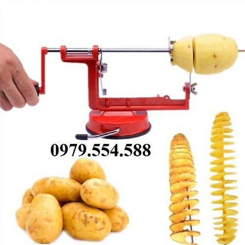 Máy cắt, thái khoai tây lốc xoáy