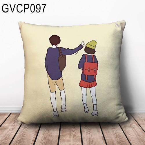 Gối vuông tựa lưng cặp đôi dễ thương GVHT127