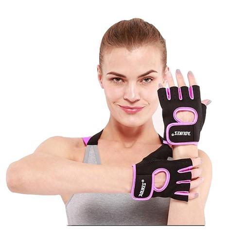 Găng tay tập gym hở ngón Aolikes A1678