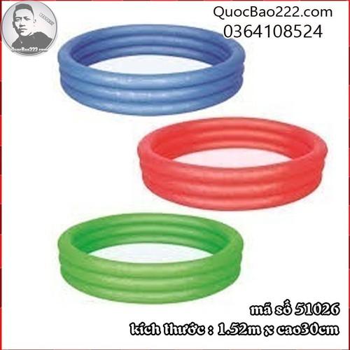 Bể Bơi Phao Tròn Cỡ Lớn kích thước 1.52m x 30cm Bestway 51026 - 7547252 , 16104179 , 15_16104179 , 187000 , Be-Boi-Phao-Tron-Co-Lon-kich-thuoc-1.52m-x-30cm-Bestway-51026-15_16104179 , sendo.vn , Bể Bơi Phao Tròn Cỡ Lớn kích thước 1.52m x 30cm Bestway 51026