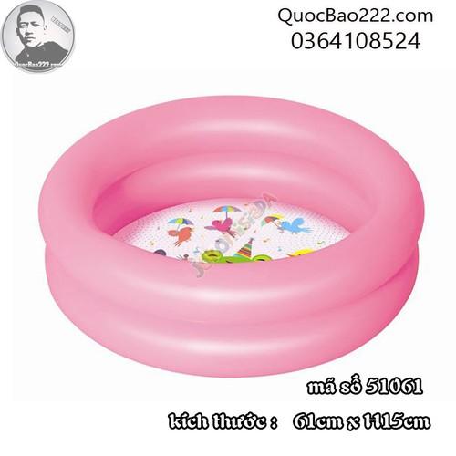 Bể Bơi Phao Tròn Cỡ Nhỏ kích thước 61m x 15cm Bestway 51061