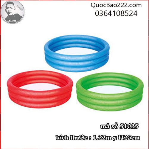 Bể Bơi Phao Tròn Cỡ Vừa kích thước 1.22m x 25cm Bestway 51025 - 7547168 , 16104063 , 15_16104063 , 127000 , Be-Boi-Phao-Tron-Co-Vua-kich-thuoc-1.22m-x-25cm-Bestway-51025-15_16104063 , sendo.vn , Bể Bơi Phao Tròn Cỡ Vừa kích thước 1.22m x 25cm Bestway 51025