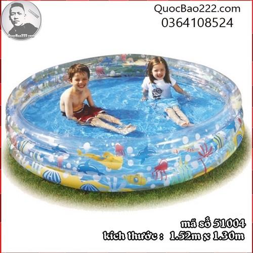 Bể Bơi Phao Tròn Lớn kích thước 1.52m x 30cm Bestway 51004