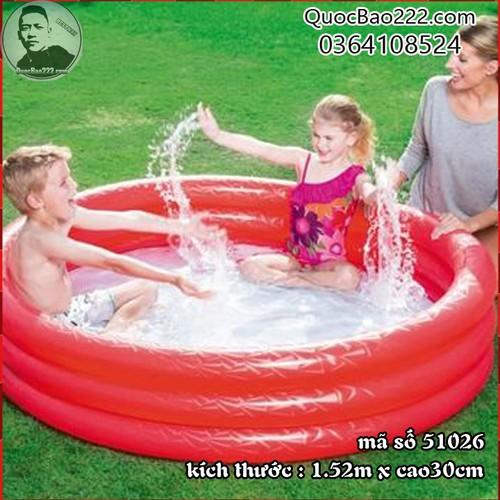 Bể Bơi Phao Tròn Cỡ Lớn kích thước 1.52m x 30cm Bestway 51026 - 7547106 , 16103982 , 15_16103982 , 187000 , Be-Boi-Phao-Tron-Co-Lon-kich-thuoc-1.52m-x-30cm-Bestway-51026-15_16103982 , sendo.vn , Bể Bơi Phao Tròn Cỡ Lớn kích thước 1.52m x 30cm Bestway 51026
