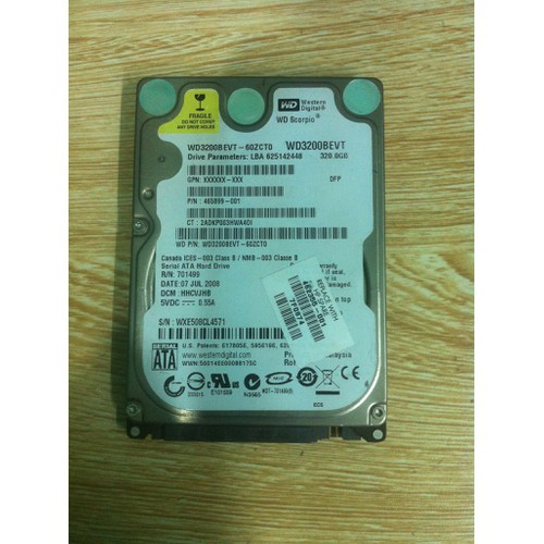Ổ cứng Laptop 320GB SATA cũ