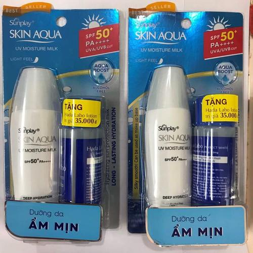 SỮA CHỐNG NẮNG NGÀY DƯỠNG DA, GIỮ ẨM [Sunplay Skin Aqua] UV Moisture SPF50+ PA++++ 30g + Tặng Kem rửa mặt [Hada Labo] 25g - 11247160 , 16105215 , 15_16105215 , 88000 , SUA-CHONG-NANG-NGAY-DUONG-DA-GIU-AM-Sunplay-Skin-Aqua-UV-Moisture-SPF50-PA-30g-Tang-Kem-rua-mat-Hada-Labo-25g-15_16105215 , sendo.vn , SỮA CHỐNG NẮNG NGÀY DƯỠNG DA, GIỮ ẨM [Sunplay Skin Aqua] UV Moisture SP