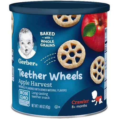 Bánh ăn dặm hình bánh xe gerber teether wheels