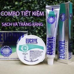 Combo Kem trắng răng và Bột tẩy trắng răng Eucryl