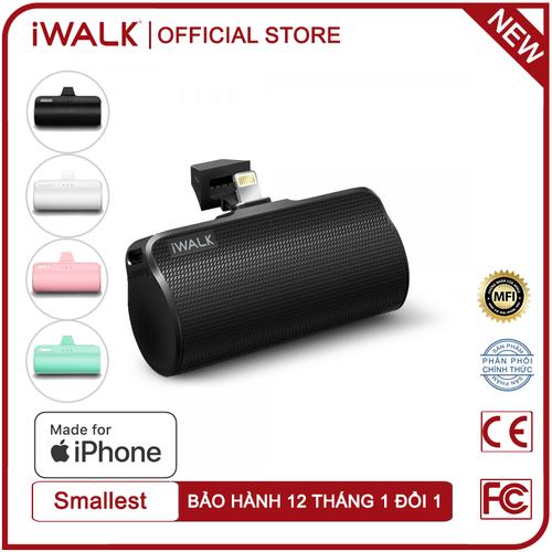 [ mua 1 tặng 1 ] pin dự phòng mini iwalk link me plus 3300mah cổng lightning cho iphone - dbl3300l