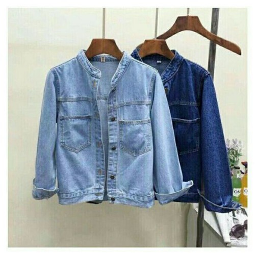 Áo khoác jean nữ - Mẫu và màu y hình