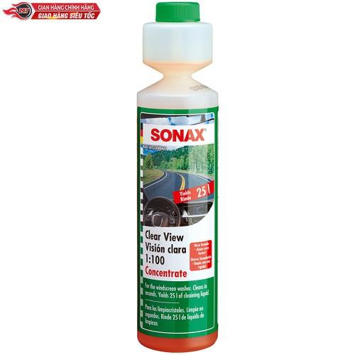 Châm két nước rửa kính đậm đặc sonax clear view 1:100 concentrate 250ml