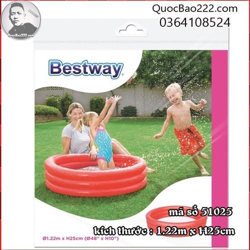 Bể Bơi Phao Tròn Cỡ Vừa kích thước 1.22m x 25cm Bestway 51025 - 7547171 , 16104066 , 15_16104066 , 127000 , Be-Boi-Phao-Tron-Co-Vua-kich-thuoc-1.22m-x-25cm-Bestway-51025-15_16104066 , sendo.vn , Bể Bơi Phao Tròn Cỡ Vừa kích thước 1.22m x 25cm Bestway 51025