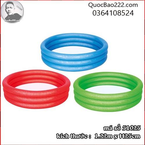 Bể Bơi Phao Tròn Cỡ Vừa kích thước 1.22m x 25cm Bestway 51025