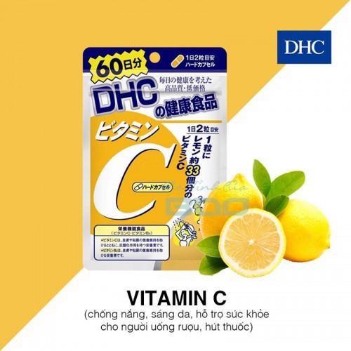 Viên Uống Hỗ Trợ Bổ Sung Vitamin C DHC Nhật Bản 120 Viên