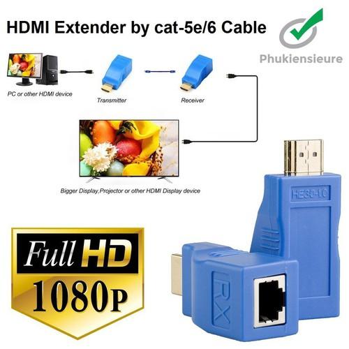 Bộ kéo dài tín hiệu HDMI 30m qua cáp mạng Cat5E Cat6 chuẩn RJ45 - tín hiệu ổn định . - 11168041 , 16110504 , 15_16110504 , 350000 , Bo-keo-dai-tin-hieu-HDMI-30m-qua-cap-mang-Cat5E-Cat6-chuan-RJ45-tin-hieu-on-dinh-.-15_16110504 , sendo.vn , Bộ kéo dài tín hiệu HDMI 30m qua cáp mạng Cat5E Cat6 chuẩn RJ45 - tín hiệu ổn định .
