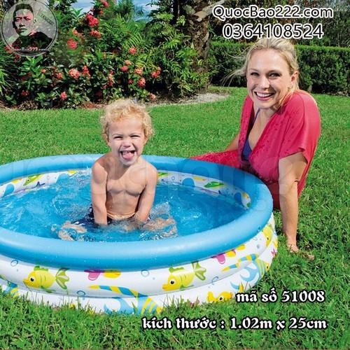 Bể Bơi Phao Tròn Cỡ Vừa Kích Thước 1.02m x 25cm - Bestway 51008