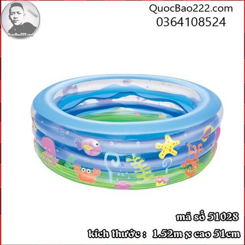 Bể Bơi Phao Tròn Lớn Cực Bền kích thước 1.52m x 51cm Bestway 51028 - 11246585 , 16104301 , 15_16104301 , 488000 , Be-Boi-Phao-Tron-Lon-Cuc-Ben-kich-thuoc-1.52m-x-51cm-Bestway-51028-15_16104301 , sendo.vn , Bể Bơi Phao Tròn Lớn Cực Bền kích thước 1.52m x 51cm Bestway 51028