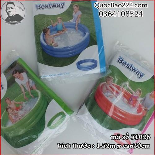 Bể Bơi Phao Tròn Cỡ Lớn kích thước 1.52m x 30cm Bestway 51026 - 7547256 , 16104183 , 15_16104183 , 187000 , Be-Boi-Phao-Tron-Co-Lon-kich-thuoc-1.52m-x-30cm-Bestway-51026-15_16104183 , sendo.vn , Bể Bơi Phao Tròn Cỡ Lớn kích thước 1.52m x 30cm Bestway 51026