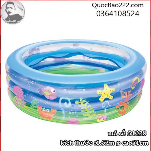 Bể Bơi Phao Tròn Lớn Cực Bền kích thước 1.52m x 51cm Bestway 51028 - 11246583 , 16104299 , 15_16104299 , 488000 , Be-Boi-Phao-Tron-Lon-Cuc-Ben-kich-thuoc-1.52m-x-51cm-Bestway-51028-15_16104299 , sendo.vn , Bể Bơi Phao Tròn Lớn Cực Bền kích thước 1.52m x 51cm Bestway 51028
