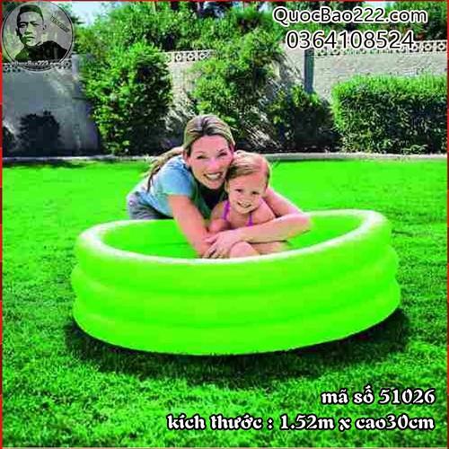 Bể Bơi Phao Tròn Cỡ Lớn kích thước 1.52m x 30cm Bestway 51026