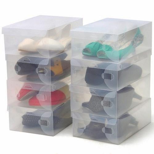 Combo 10 Hộp đựng giày bằng nhựa cao cấp trong suốt
