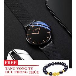 Đồng hồ nam DIZIZID dây thép chống nước mặt chống xước có lịch ngày thiết kế trẻ trung mẫu mới nhất-Tặng vòng tỳ hưu may mắn – DZI05