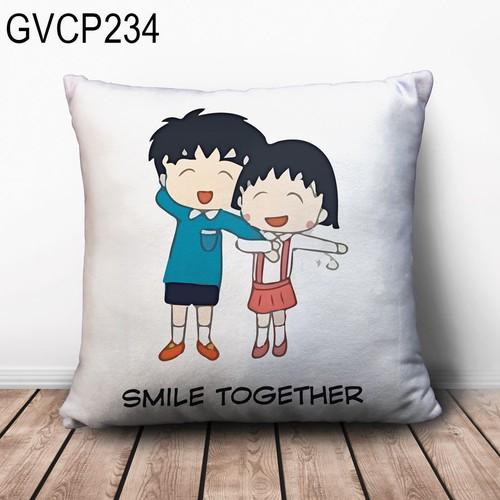 Gối vuông Couple dễ thương GVHT254