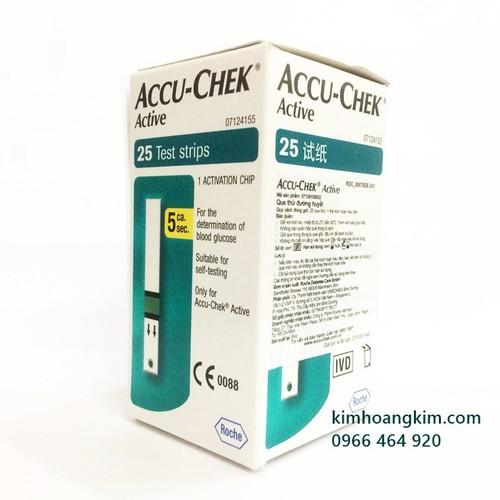 Que thử đường huyết Accu Chek Active Hộp 25 que - 11255293 , 16124788 , 15_16124788 , 350000 , Que-thu-duong-huyet-Accu-Chek-Active-Hop-25-que-15_16124788 , sendo.vn , Que thử đường huyết Accu Chek Active Hộp 25 que