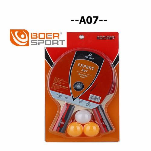 Bộ 2 vợt bóng bàn Boer A07 tặng kèm 3 bóng