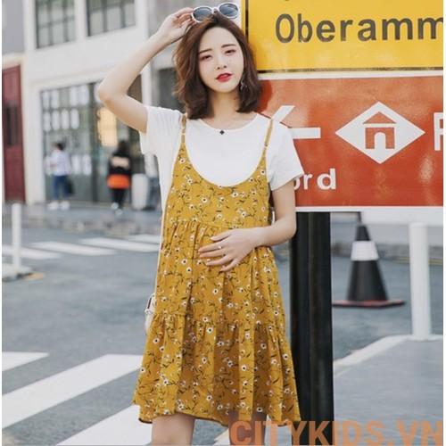Đầm Bầu: Sét Yếm Váy 2 Dây Hoa Nhí - Vàng - 11168477 , 16125193 , 15_16125193 , 335000 , Dam-Bau-Set-Yem-Vay-2-Day-Hoa-Nhi-Vang-15_16125193 , sendo.vn , Đầm Bầu: Sét Yếm Váy 2 Dây Hoa Nhí - Vàng