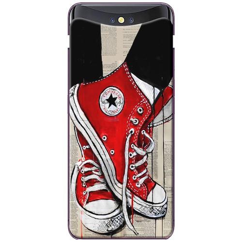 Ốp lưng nhựa dẻo Oppo. Find X Giày đỏ