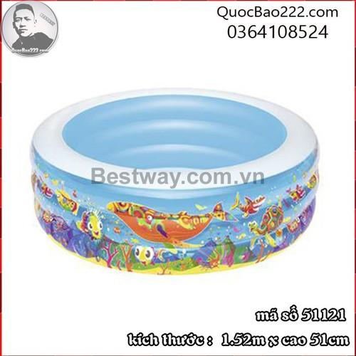 Bể Bơi Phao Tròn Lớn Cực Bền kích thước 1.52m x 51cm Bestway 51121 - 7891384 , 16117642 , 15_16117642 , 547000 , Be-Boi-Phao-Tron-Lon-Cuc-Ben-kich-thuoc-1.52m-x-51cm-Bestway-51121-15_16117642 , sendo.vn , Bể Bơi Phao Tròn Lớn Cực Bền kích thước 1.52m x 51cm Bestway 51121