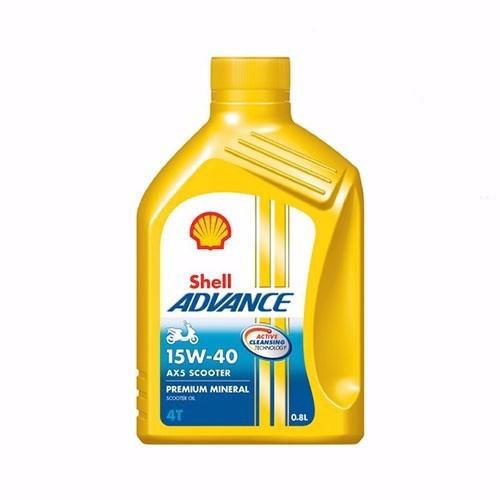 NHỚT SHELL ADVANCE AX5 15W-40 0.8L
