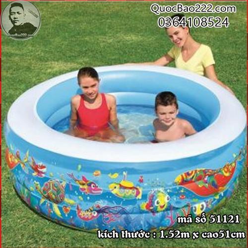 Bể Bơi Phao Tròn Lớn Cực Bền kích thước 1.52m x 51cm Bestway 51121 - 7891271 , 16117478 , 15_16117478 , 547000 , Be-Boi-Phao-Tron-Lon-Cuc-Ben-kich-thuoc-1.52m-x-51cm-Bestway-51121-15_16117478 , sendo.vn , Bể Bơi Phao Tròn Lớn Cực Bền kích thước 1.52m x 51cm Bestway 51121