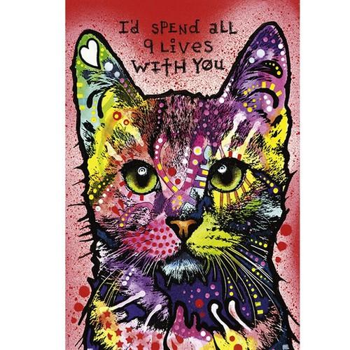 Tranh ghép hình 1000 mảnh mèo hoa