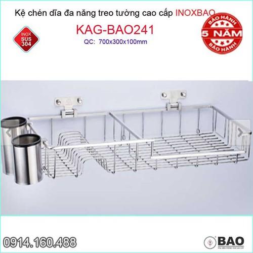 Kệ úp chén dĩa đa năng có ống đũa Inox Bảo KAG-BAO241 - 11255199 , 16124630 , 15_16124630 , 4040000 , Ke-up-chen-dia-da-nang-co-ong-dua-Inox-Bao-KAG-BAO241-15_16124630 , sendo.vn , Kệ úp chén dĩa đa năng có ống đũa Inox Bảo KAG-BAO241