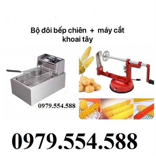 Bộ đôi bếp chiên nhúng điện đơn - máy cắt khoai tây lốc xoáy - 11252898 , 16118755 , 15_16118755 , 1370000 , Bo-doi-bep-chien-nhung-dien-don-may-cat-khoai-tay-loc-xoay-15_16118755 , sendo.vn , Bộ đôi bếp chiên nhúng điện đơn - máy cắt khoai tây lốc xoáy
