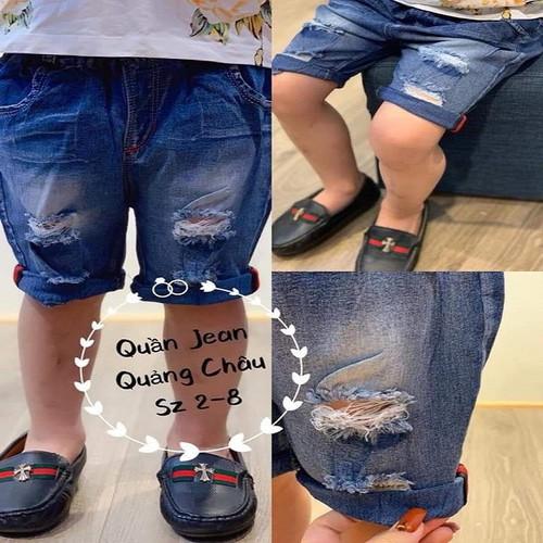 quần jean rách sành điệu bé trai 8-22kg