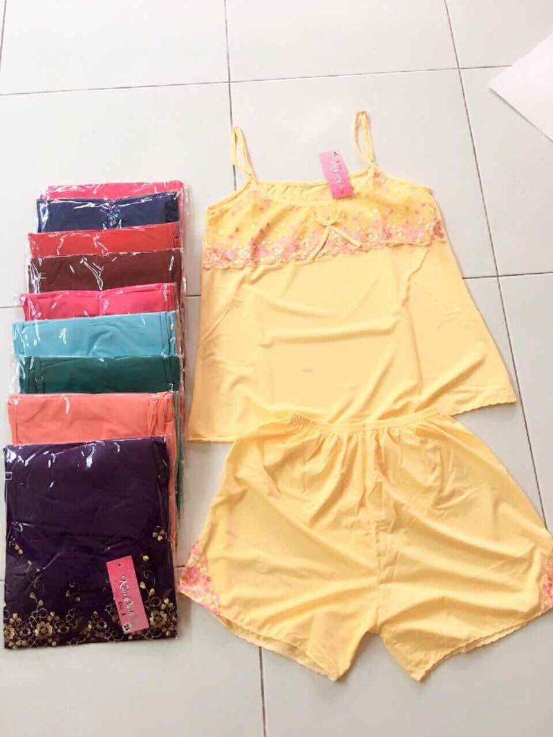 [cho xem hàng] đồ bộ đùi thun lạnh 2 dây mặc nhà cực mát_  size từ 40-65kg