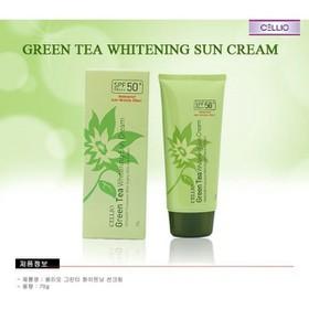 Kem chống nắng CELLIO trà xanh SPF 50 - kem chống nắng cellio trà xanh