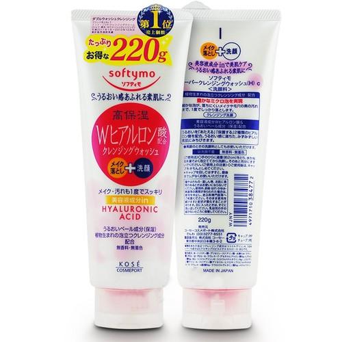 Sữa rửa mặt cho da khô Kosé Softymo Hyaluronic Acid White 220g hàng xách tay của Nhật Bản - 11261402 , 16139509 , 15_16139509 , 135000 , Sua-rua-mat-cho-da-kho-Kose-Softymo-Hyaluronic-Acid-White-220g-hang-xach-tay-cua-Nhat-Ban-15_16139509 , sendo.vn , Sữa rửa mặt cho da khô Kosé Softymo Hyaluronic Acid White 220g hàng xách tay của Nhật Bản