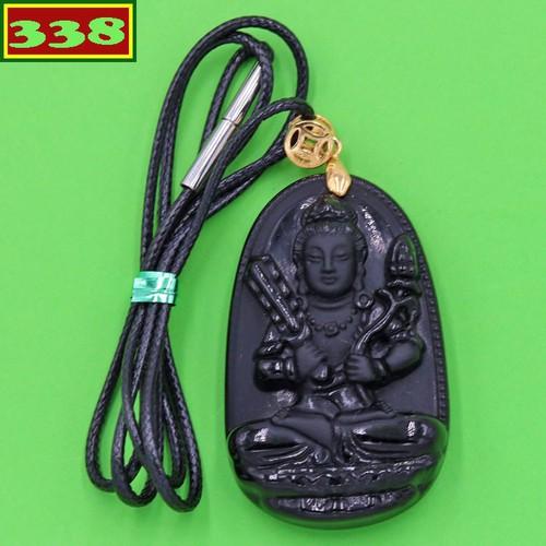 Vòng cổ Hư Không Tạng Bồ Tát 5 cm thạch anh đen AB6 - Phật bản mệnh tuổi Sửu, Dần