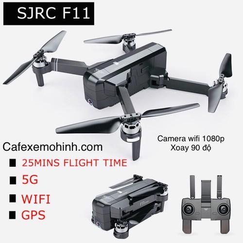 Flycam sjrc f11 camera 1080p bay 25p xa 1200m gps tự bay về
