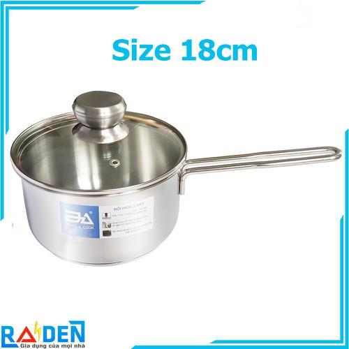 Quánh inox 3 đáy size 18cm Đông Á Q318K dùng được trên bếp từ
